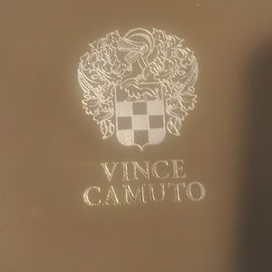 Vince camuto leather and gold watch